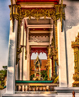 beauty of the architecture Wat Chalong