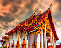 temple red gold Wat Chalong