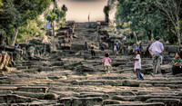steps leading up tp Preah Vihear World heritage site