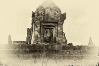 Khmer Temple World Heritage Site B/W