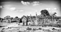 Word Heritage Site Preah Viheah Temple structure and contrast B/W