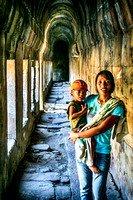 young asian mother and son Preah Vihear