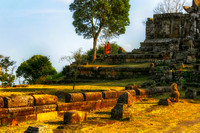 World Heritage Site Preah Vihear Cambodia 12 Buddhist monk under tree