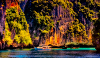 All alone beautiful cove diving early morning Phi Phi Islands Th