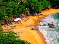 Laem Singh Beach evening tourist Phuket impression