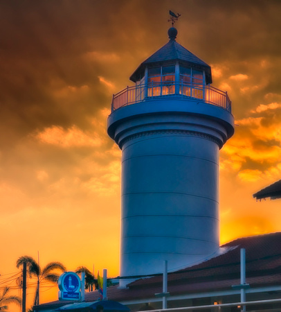 Lighthouse Chalong sunset clouds