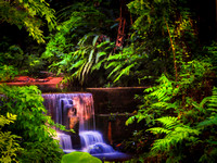 small water fall tropical forest